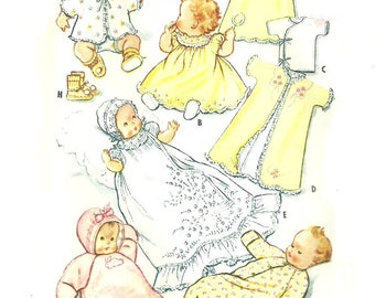 Infant Layette and Christening Gown Pattern Unused McCall's 2318 1950's