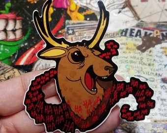 Vinyl Sticker - Evil Dead 2 Laughing Deer