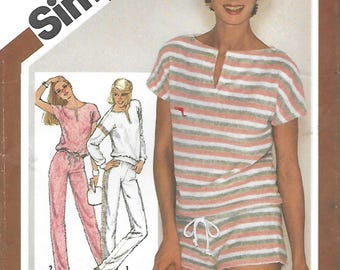Simplicity 9890 Misses' Pullover Top, Pull on Pants and Shorts Sewing Pattern