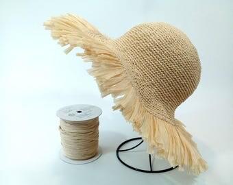 crochet straw hat, summer hat, beach hat,wide-brim hat , crochet hat