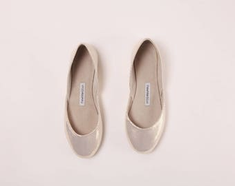 Handmade Leather Ballet Flats | Gold Mirrors | Ballet Flats | Last two Pairs, 38 and 40 | Ready to Ship