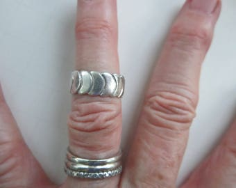 Sterling Silver Band Ring Hallmarked STERLING  Size 6  Vintage