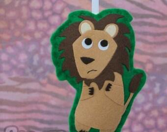 Lion - Felt Animal Christmas Tree Ornament - Oscar the Lion