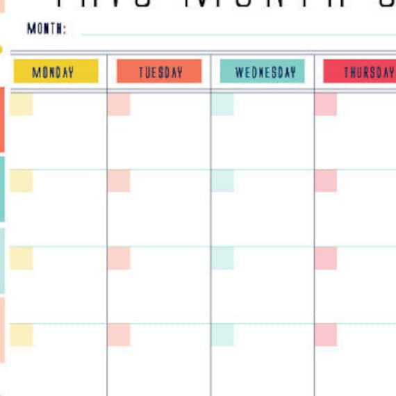 Printable Monthly Planner Calendar 2018 Monthly Planner Diy