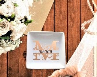 Personalized Monogram Ceramic Dish
