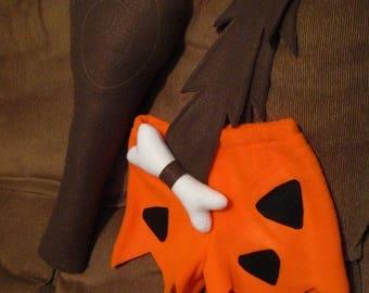 Bam Bam (Bamm Bamm) Rubble Flintstone costume -W/ club & hat- 12 Month size -New for Halloween, Smash Cake