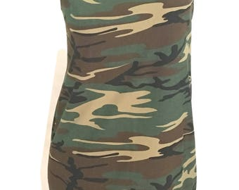 Hot CAMOFLAUGE Reshaped T-Shirt / Tunic / Mini Dress sz. M / L