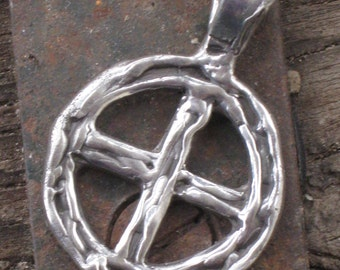 Odin's Cross. Woden's Cross/Wheel. Sun Wheel in Sterling Silver