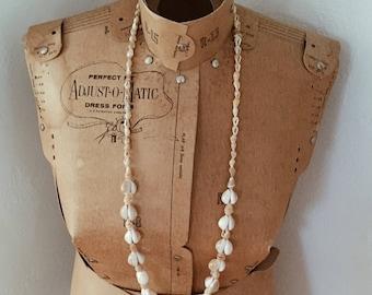 Vintage Boho cowrie shell necklace, Boho shell necklace, vintage cowrie shells, unique shell necklace, boho style necklace,cowrie necklace