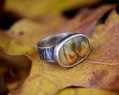 Reserved for ForeverWhiteRose - Picasso jasper ring
