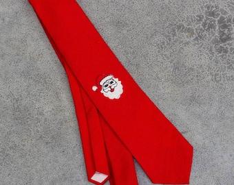 Vintage Santa Christmas Neck Tie Etienne Aigner Red Santa Claus | Ugly Xmas Tie 7TR