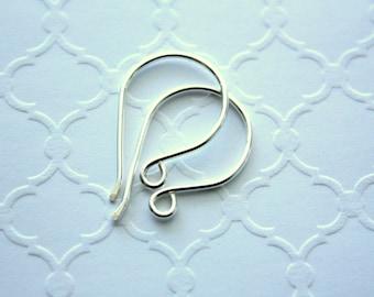 Sterling Silver Earwires, Artisan Earring Hooks, 18 Gauge