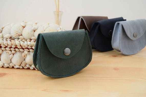 Change purse,leather coin purse,green coin purse,pocket coin purse,leather wallet,mens wallet,mini coin purse,minimalist purse,green wallet