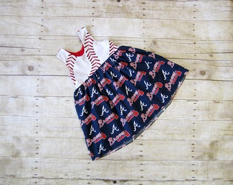 Braves Tunic   12m - 8   Bubble Romper & Dress Available   Sister Set    Flowy Girls Tunic   Baseball Tunic   Message for your team