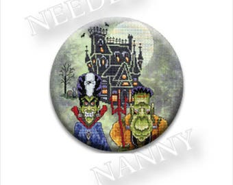 NEW Pick One Needle Nanny Glendon Place Nannies Minder Stitch Dots Zappy at thecottageneedle.com cross stitch tool notion Halloween
