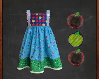 Back To School, Girl Dress, School House, Tank Top, Apple Summer Dress | Toddler, Girl | Free Shipping