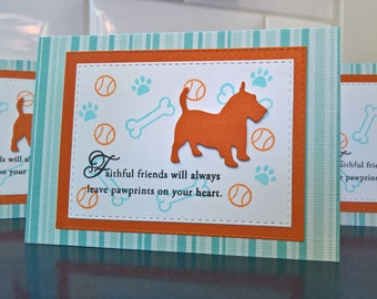 Dog Loss Card, Pet Loss, Dog Sympathy Card, Pet Sympathy Card Animal Loss Greeting Card Terrier Lover Greeting Card, Scottish Terrier Westie