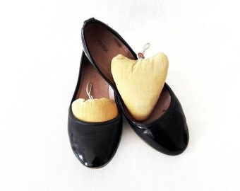 Mid Century Mustard Corduroy Heart Shaped Cushion Woman Shoe Forms
