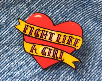Chica tatuada etsy for Fight like a girl tattoos pictures