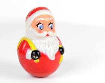 Santa Claus Weeble Wobble Toy, vintage Christmas, Kiddie Products,