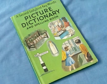 Vintage Ladybird Book - A Second Key Words Picture Dictionary and Spelling Book - Series 642 40p Matt Covers 1979 /1980