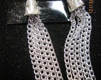 Earrings Jen 15 silver chain dangles