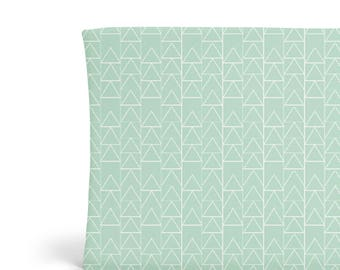 Changing Pad Cover Mint Triangle Stack -ModFox Exclusive-Mint Changing Pad- Triangle Changing Pad-Soft Minky Changing Pad-Changing Pad Cover