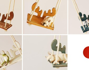 Vintage Elk Swing - Blythe / JerryBerry doll furniture / accessory - 6 colors in