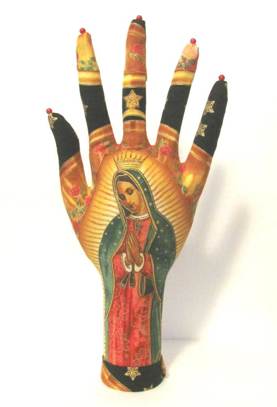 Our Lady of Guadalupe Fabric CLASSIC HAND-Stand Ready to Ship