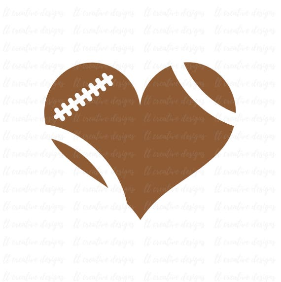 Football Heart Svg Football Love Svg Football Svg