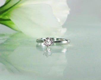 Dainty Gemstone Ring, Dainty Morganite Ring, Morganite Ring, Solitaire Ring, Morganite Solitaire Ring, Natural Morganite Ring, Pink Ring