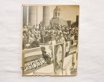 Original 1930s / 1940s FDR President Franklin Delano Roosevelt Speech Photo Print