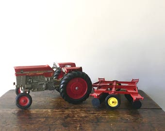 RARE Vintage Ertl Massey Ferguson 1/16 Scale Diecast Lot - 175 Diesel Tractor with Accessories