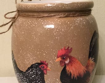 Rooster Utensil Holder...Kitchen Decor...Country Kitchen..Country Home..Rooster Lover...Housewarming Gift..Home Decor..Rooster Decor