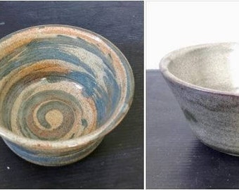 Free shipping-set of 2 small rustic bowls,ceramic,handmade,for-serving ice-cream,dessert.Side bowl,mom gift,candies,salt or sugar bowl,gift