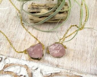 Rose Quartz Healing Necklaces