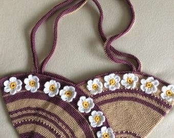 Crochet  Daisy  Art Pouch