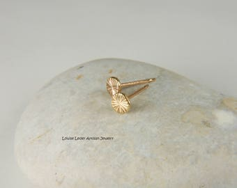 Textured Gold Earrings Solid Gold Earrings Gold Stud Earrings 14K Gold Studs Textured Gold Jewelry