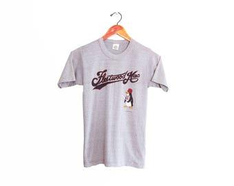 vintage t shirt / Fleetwood Mac shirt / 80s band shirt / 1980s grey Fleetwood Mac concert t shirt Small