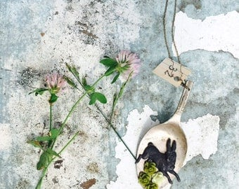 Mr. McGregor's Garden Necklace||Boho Necklace||Nature Jewelry||Spirit Jewelry||Rabbit||Hare||Witchcraft