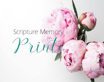 Scripture Memory Print Bundle