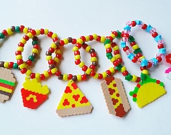 Junk Food Perler Bracelet Set - Kandi - Rave - Festival - Perler Beads - Kandi Bracelets - EDC