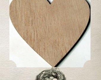 Heart Wood Cut Out - Laser Cut