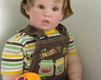 "Reborn 29"" chubby and big toddler boy doll ""Jeremy"" - custom - you choose hair/eye color"