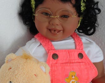 """Reborn African American 22"""" Toddler Girl """"Care Bear Kendra"""" -Down Syndrome Tribute"""