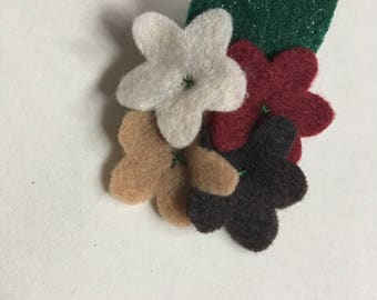 Felt Flower Brooch - Autumn Brooch Flowers