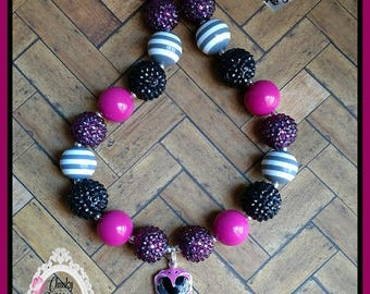 Pink Power Ranger Chunky Necklace