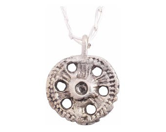 Authentic Ancient Roman Necklace Wheel of Fortune Rota Fortunae Pendant Jewelry 1st-5th century(JNS364)
