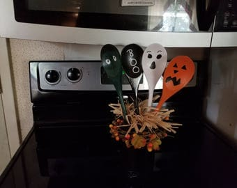 Mason Jar for Halloween Spoons