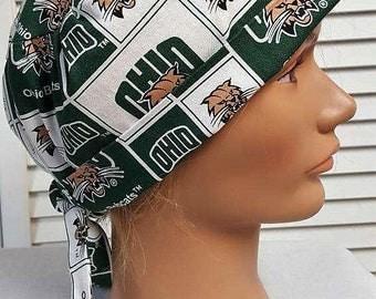 Men or Women's: Ohio University Bobcats - Adjustable, Fold Up Scrub Hat